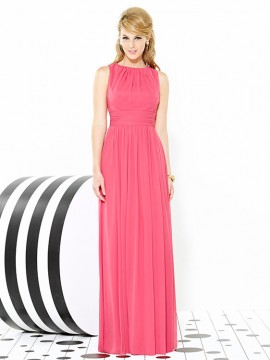 Dessy bridesmaid dress 6709 sleeveless, full length, open back