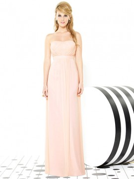 Dessy bridesmaid dress 6710 strapless, full length dress with empire waist band