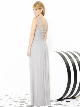 Dessy 6711 bridesmaid dress, criss cross midrift and sheer straps, Mirfield,