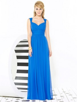 Dessy bridesmaid dress 6712, full length Lux Chiffon bridesmaid dress with pleated bodice