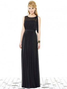 Dessy bridesmaid dress 6714, Full length Lux Chiffon dress