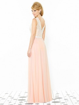 Dessy bridesmaid dress 6715, with straps and belt at waist