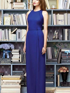 Lela Rose LR216 is a elegant floor length crepe bridesmaid dress available from our Mirfield boutique
