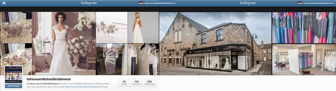 Were on Instagram | tohaveandtoholdbridalwear/