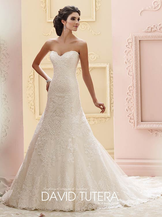 David Tutera Mon Cheri Wedding Dress style 215265. Available at To Have and To Hold Bridalwear Mirfield